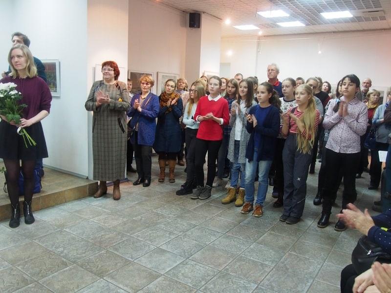 В Городском выставочном зале Петрозаводска открылась выставка мастера офорта Олега Юнтунена. Фото Ирины Ларионовой