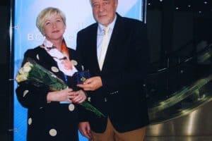 Галина Семенова принимает награду в Москве