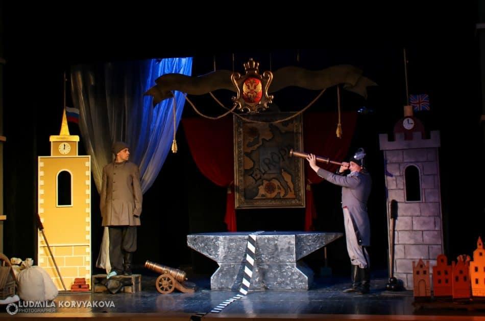 """Сцена из спектакля """"Левша"""" в Театре кукол РК. Фото Людмилы Корвяковой"""