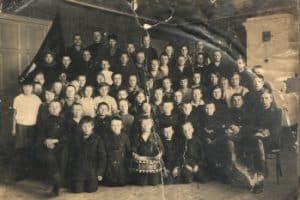 Школа крестьянской молодёжи. Олонец, 1930 год