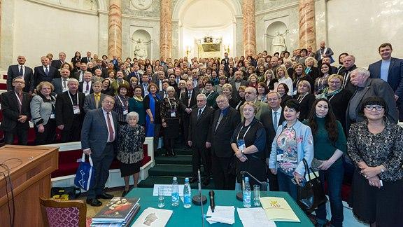 Участники собрания Союза музеев России  в Эрмитажном театре. Фото из группы vk.com/hermitage_museum