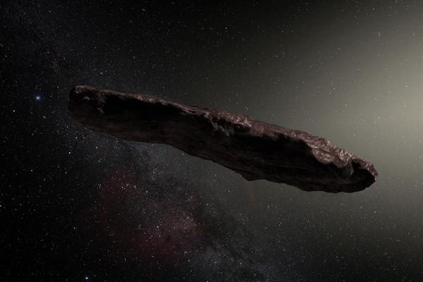 """Рисунок астероида """"Оумуамуа"""" (ESO/M. Kornmesser Derivative)"""