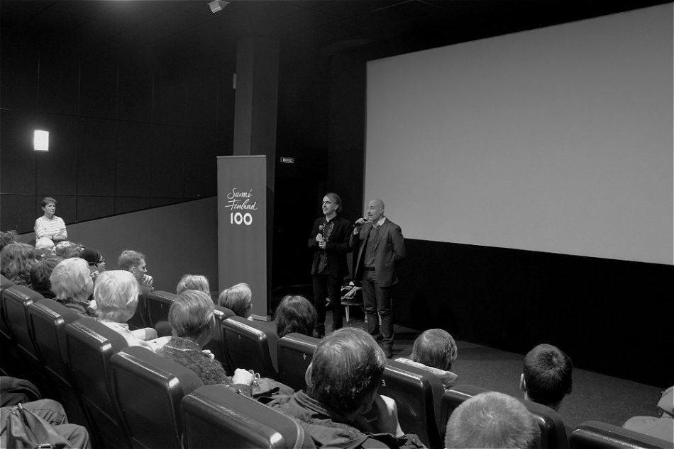 Илкка Матила (справа) на обсуждении фильма