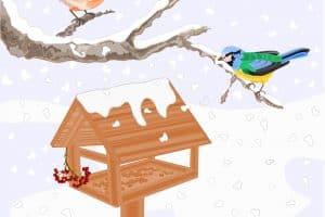 Для птичьих кормушек самое время