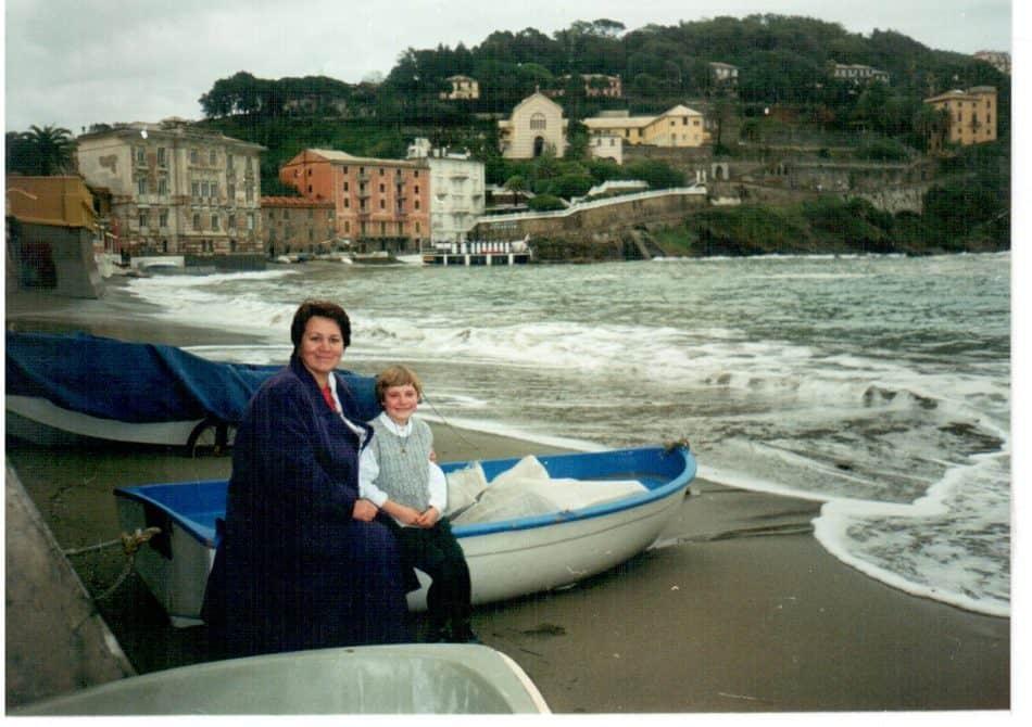Галина Васильева во время поездки в Италию
