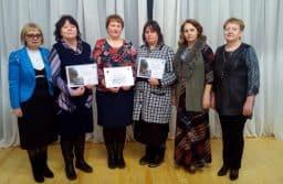 Конкурс 2017 года. Члены жюри  и  лауреаты  -  учителя Пушнинской средней школы Беломорского района