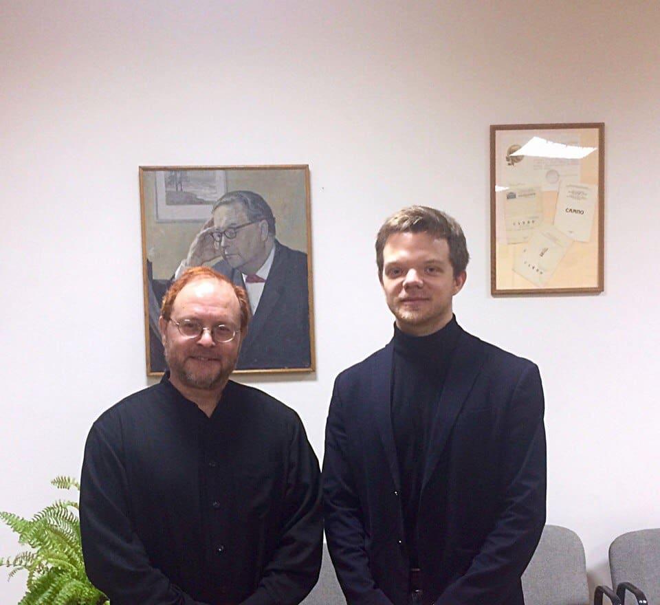 Владимир Млинарич с автором публикации Кириллом Булгаковым