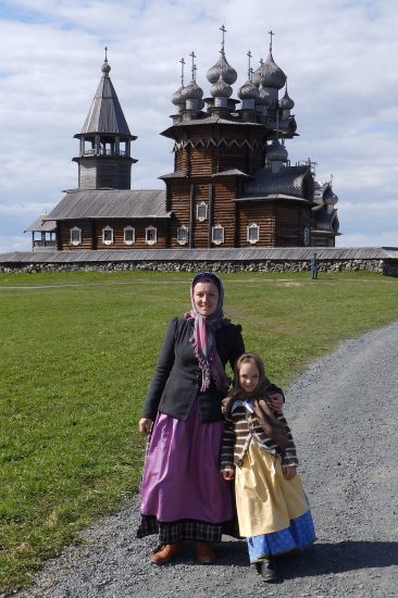 На острове с дочкой Ульяной