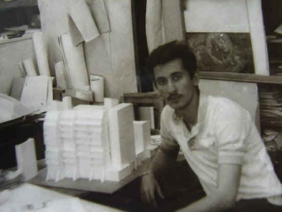 """1987 год. Работа над первым проектом в """"Карелгражданпроекте"""" - зданием гостиницы в Сегеже"""