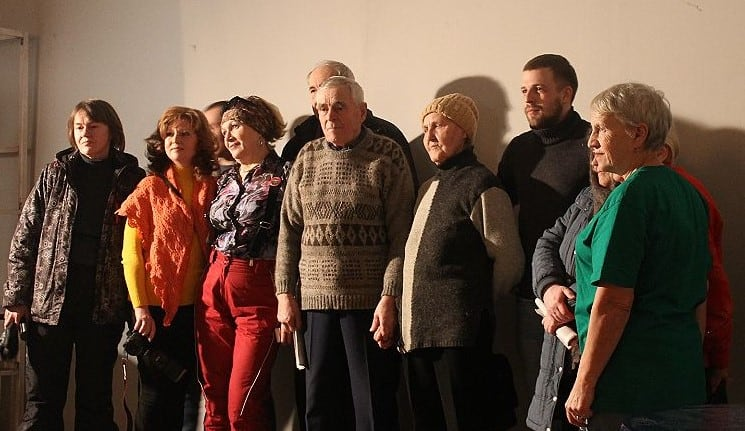 Герои фильма и режиссер Алексей Тихомиров на премьере в Петрозаводске. Фото Юлии Тапио