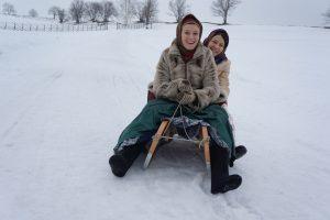 Масленица на острове Кижи. Арина Анхимкова с коллегой Надеждой Сметаниной