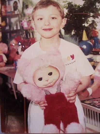 Маленький Миша. На этом снимке он младше, чем сейчас его дочка Ульяна