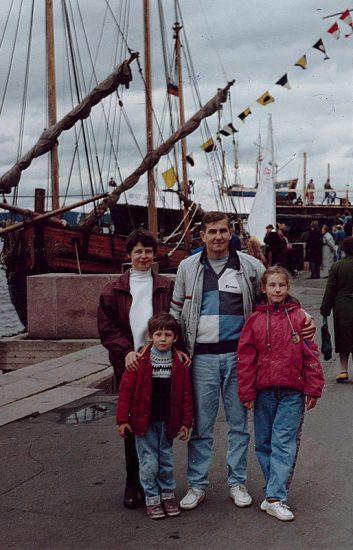 Павел с мамой Людмилой Николаевной и папой Юрием Алексеевичем и сестрой