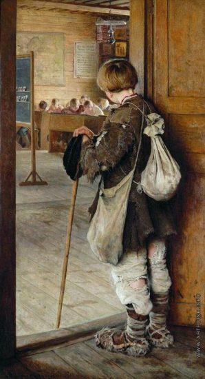 Николай Богданов-Бельский. У дверей школы. 1897