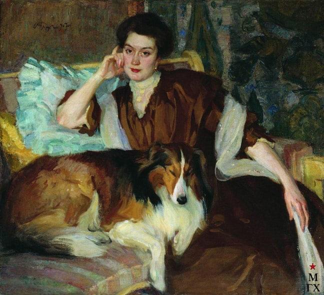 Осип Браз. Портрет жены, 1907 год. Собрание Музея изобразительных искусств Карелии