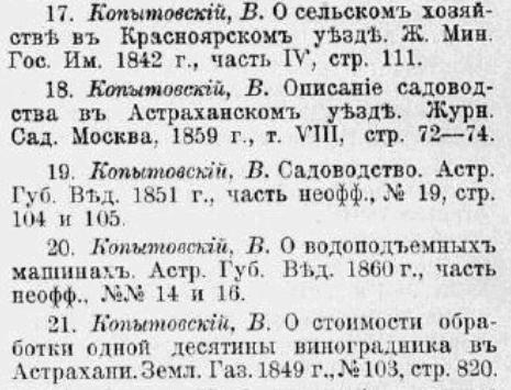 Некоторые статьи В. И. Копытовского-младшего