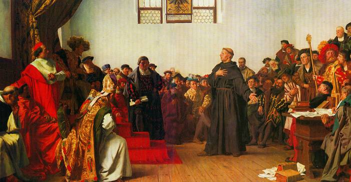 Суд над Лютером в Вормсе в присутствии императора Карла V