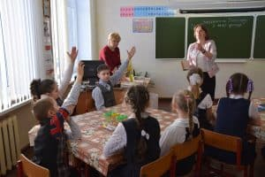 В Шуйской средней школе Прионежского района. Фото Марии Голубевой