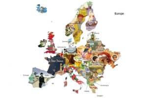 Создана детская литературная карта Европы