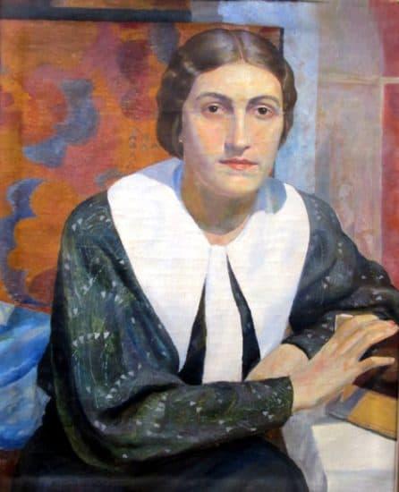 М. Цыбасов. Портрет женщины. 1930-е годы. Реставрация: А. Байер, 1979 г.