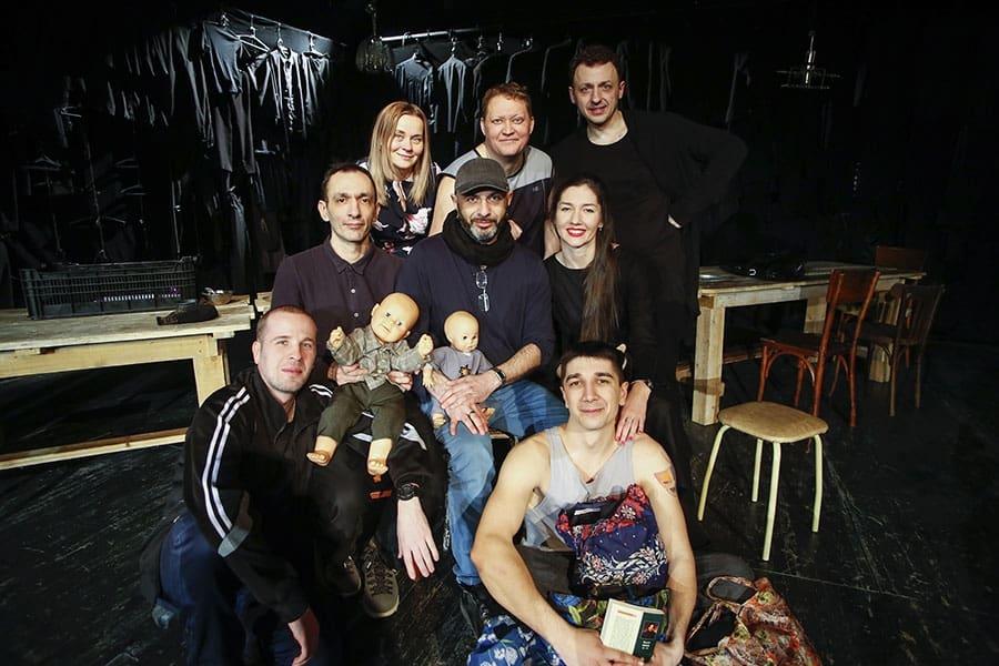 Постановочная группа спектакля. Фото Андрея Кокшарова