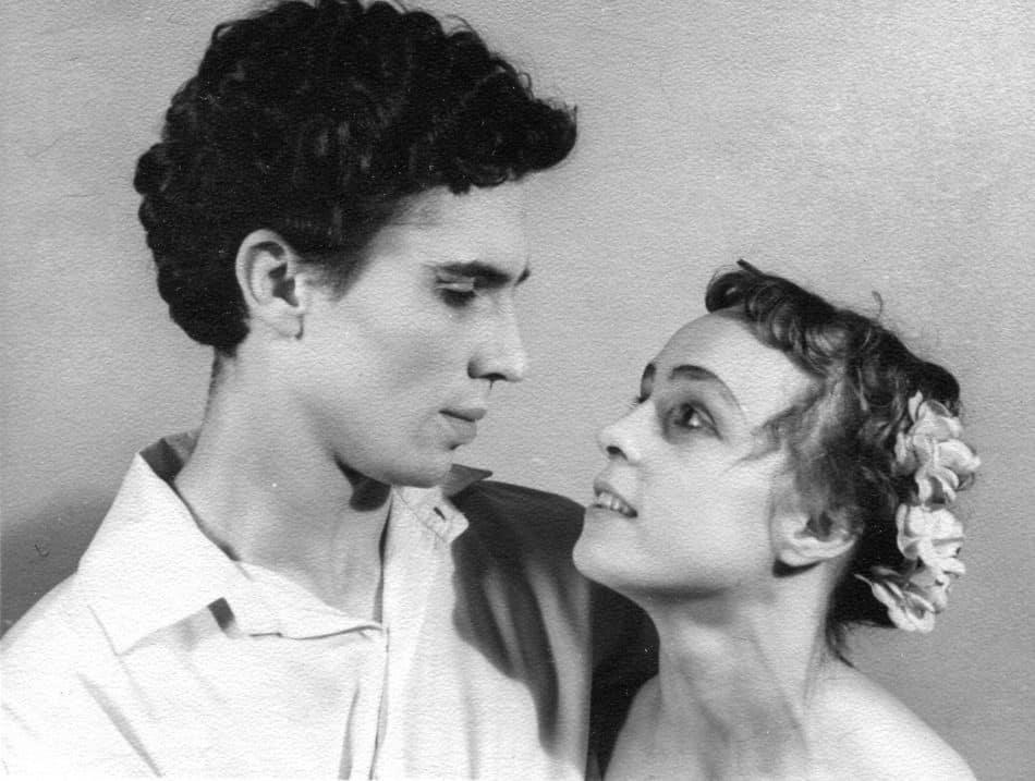 Светлана Губина и Юрий Сидоров после выпуска из училища. 1958 год