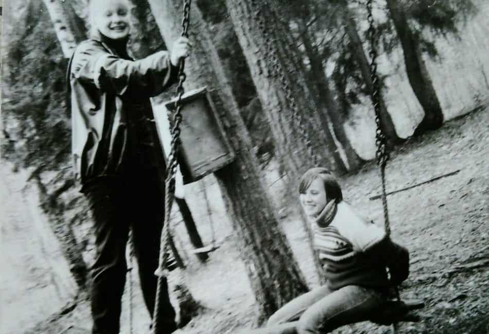 Ольга Саханова со своей любимой подругой Натальей Сахановой