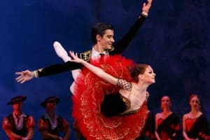 Екатерина Первушина и  Михаил Мартынюк в балете «Дон Кихот» Л. Минкуса