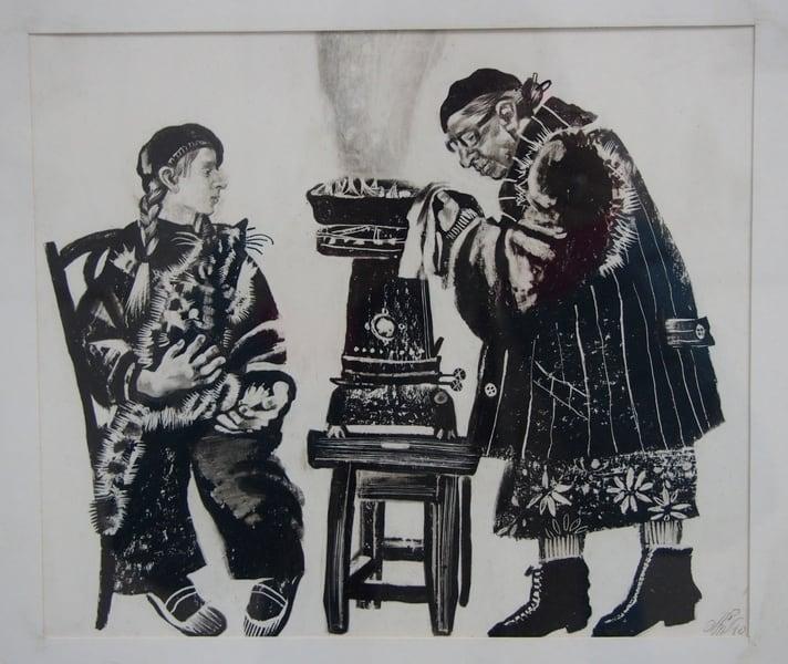 С. Кобышева. Бабушка жарит лисички