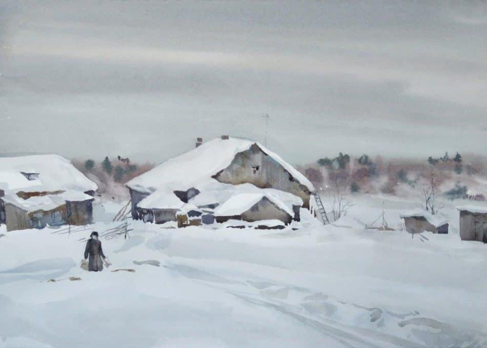 Владимир Лобанов. Весенний день на острове Кижи