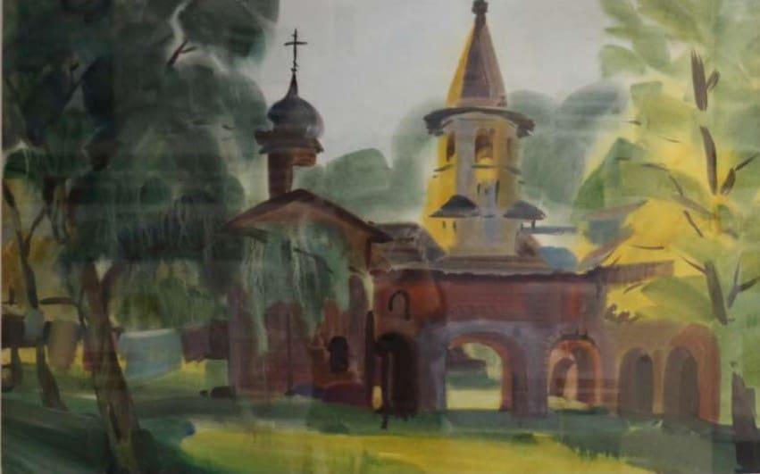 На вернисаже Юлии Коросовой