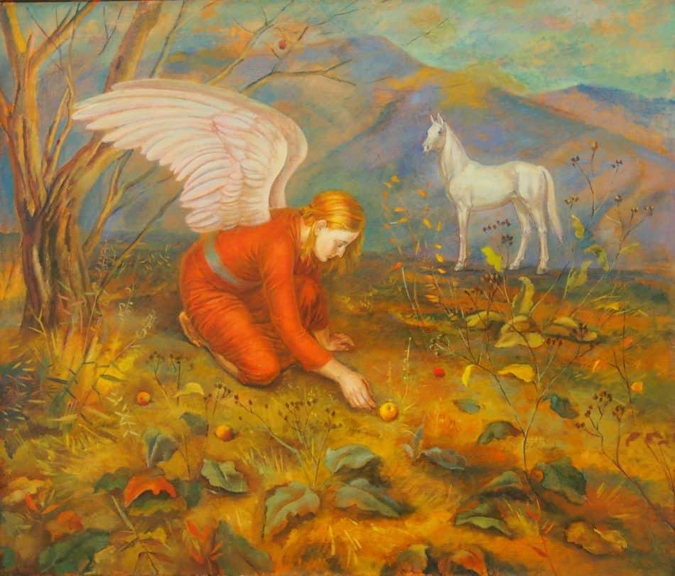 Г. Калинина. Ангел с яблоком