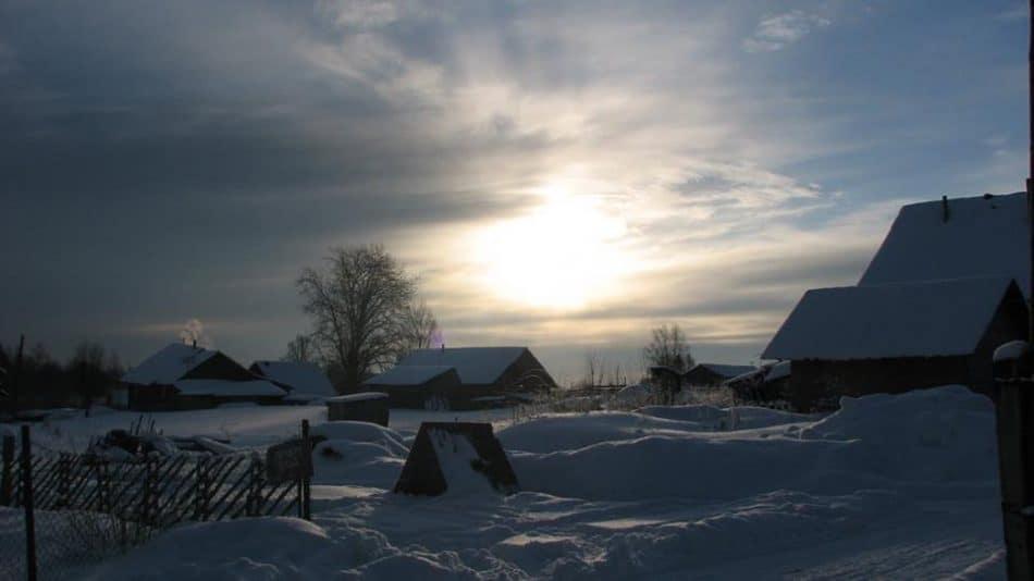 Закат в Корзе у писательского дома Софиенко