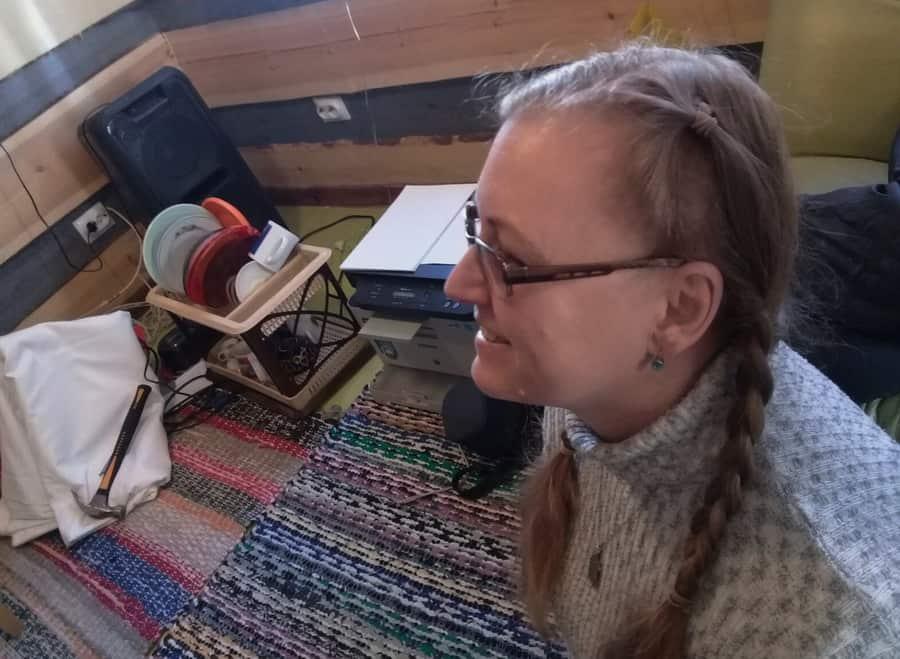 Татьяна Берцева из Санкт-Петербурга на домотканых дорожках