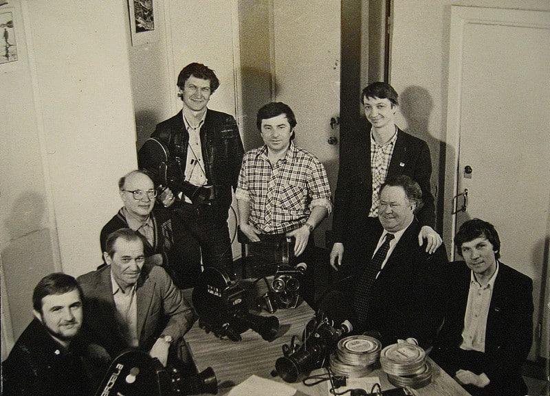 Слева направо: Александр Веснин, Анатолий Новиков, Евгений Сенченко, Виктор Яроцкий, Александр Захаров, Владимир Волотовский, Иван Траленко и Борис Конанов