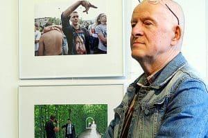 Владимир Ларионов на вернисаже. Фото Валентины Чаженгиной