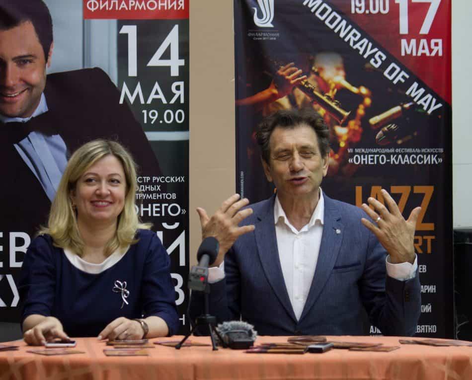Евгений Князев и директор Карельской филармонии Ирина Устинова
