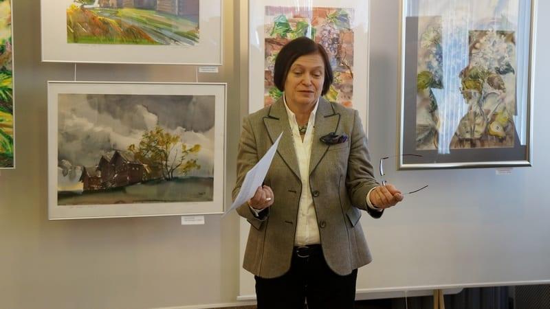 Наталья Кошелева, один из активных организаторов акварельных выставок