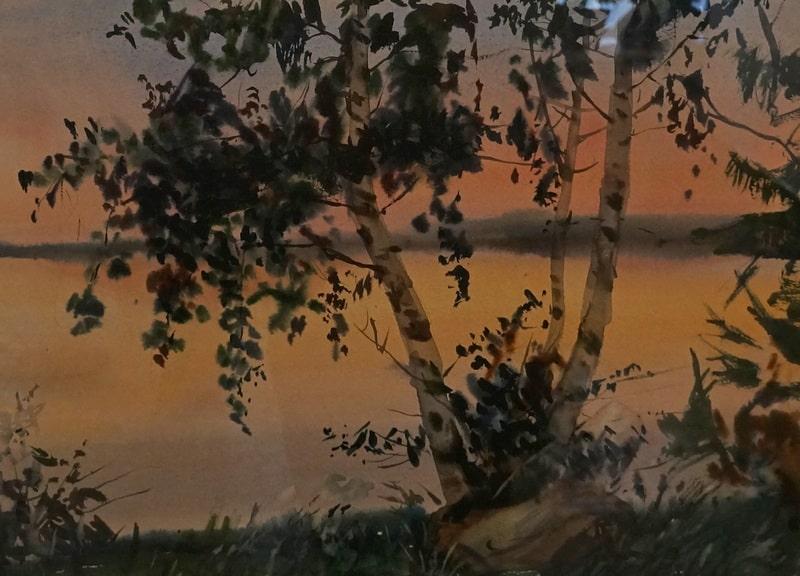 Владимир Лобанов. Белая ночь на озере