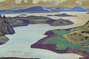 Николай Рерих. Карельский пейзаж. Ладожское озеро. 1918