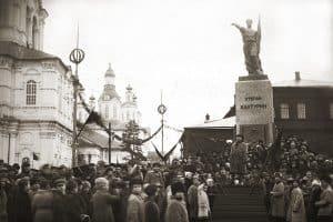 Открытие памятника Халтурину в Вятке в 1923 году