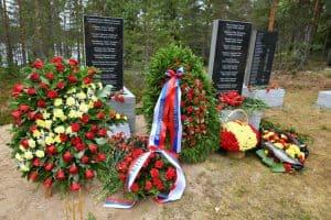 В поселке Сяндеба Олонецкого района открыли Памятный знак испанским юношам-добровольцам, погибшим на Карельском фронте