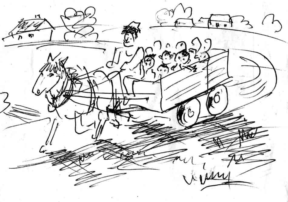 Борис Акбулатов. Экскурсия для детей на лошадке в Баллерупе