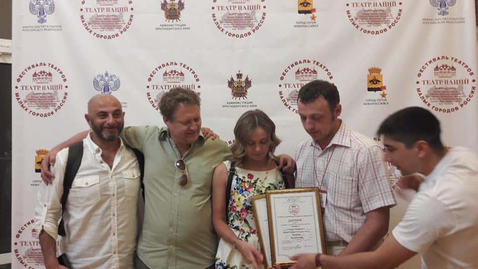 Олег Липовецкий (слева) и его творческая команда на фестивале. Фото из аккаунта Олега Липецкого