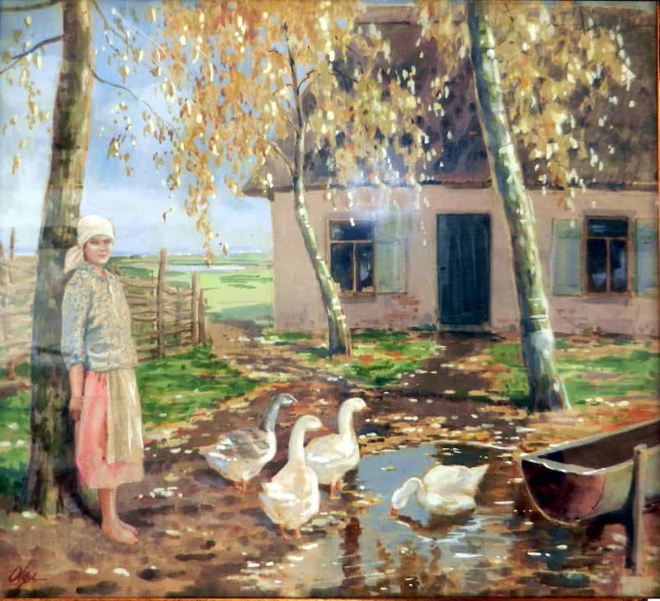 О. А. Романова-Куликовская. Сельский мотив