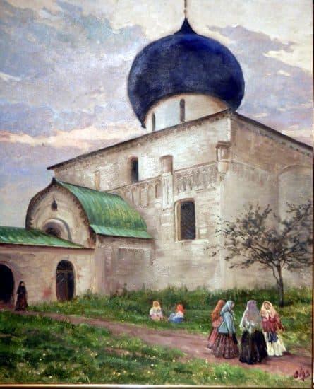 О. А. Романова-Куликовская. У монастырских ворот