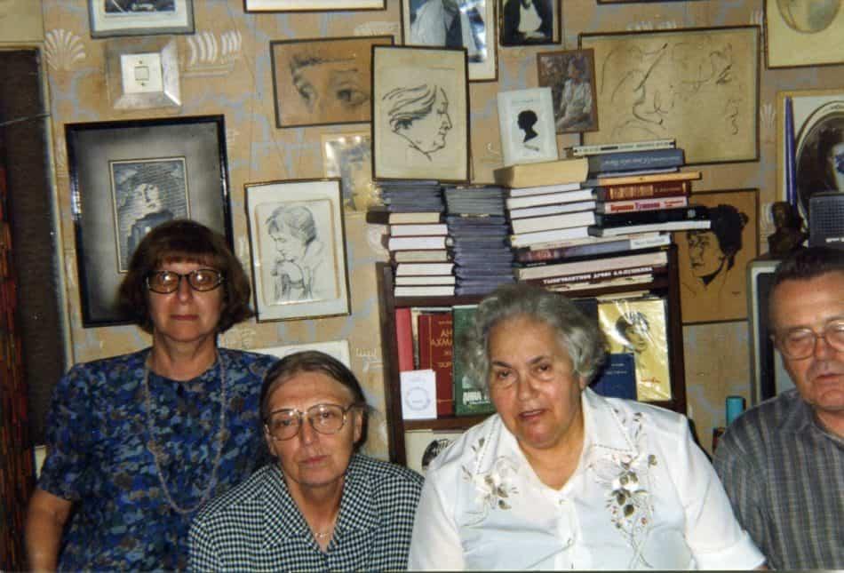 1990 год. Евгения Семёновна Эндельман (она же Жанна - студенческая подруга Инны Гордиенко), Инна Александровна Гордиенко, Евдокия Мироновна Ольшанская и ее муж Олежа.