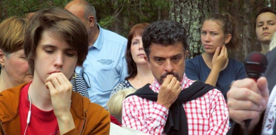 Александр Архангельский в Сандармохе. 5 августа 2018 года. Фото: Мария Дмитриева