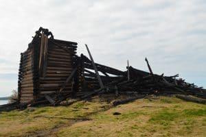 Успенская церковь после пожара. 15 августа 2018 года