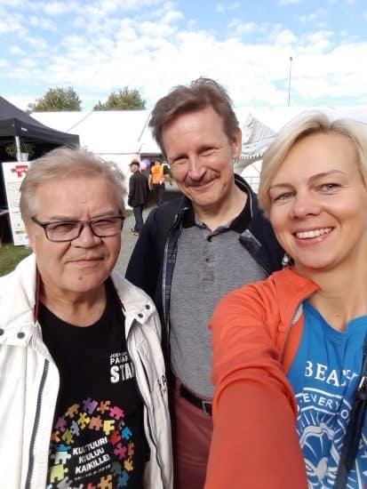 Директор фестиваля Арто Пиппури, координатор Тимо Юхани и Наталья Козловская